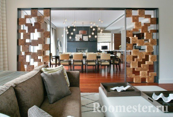 Декоративные перегородки - 35 фото-идей зонирования комнаты