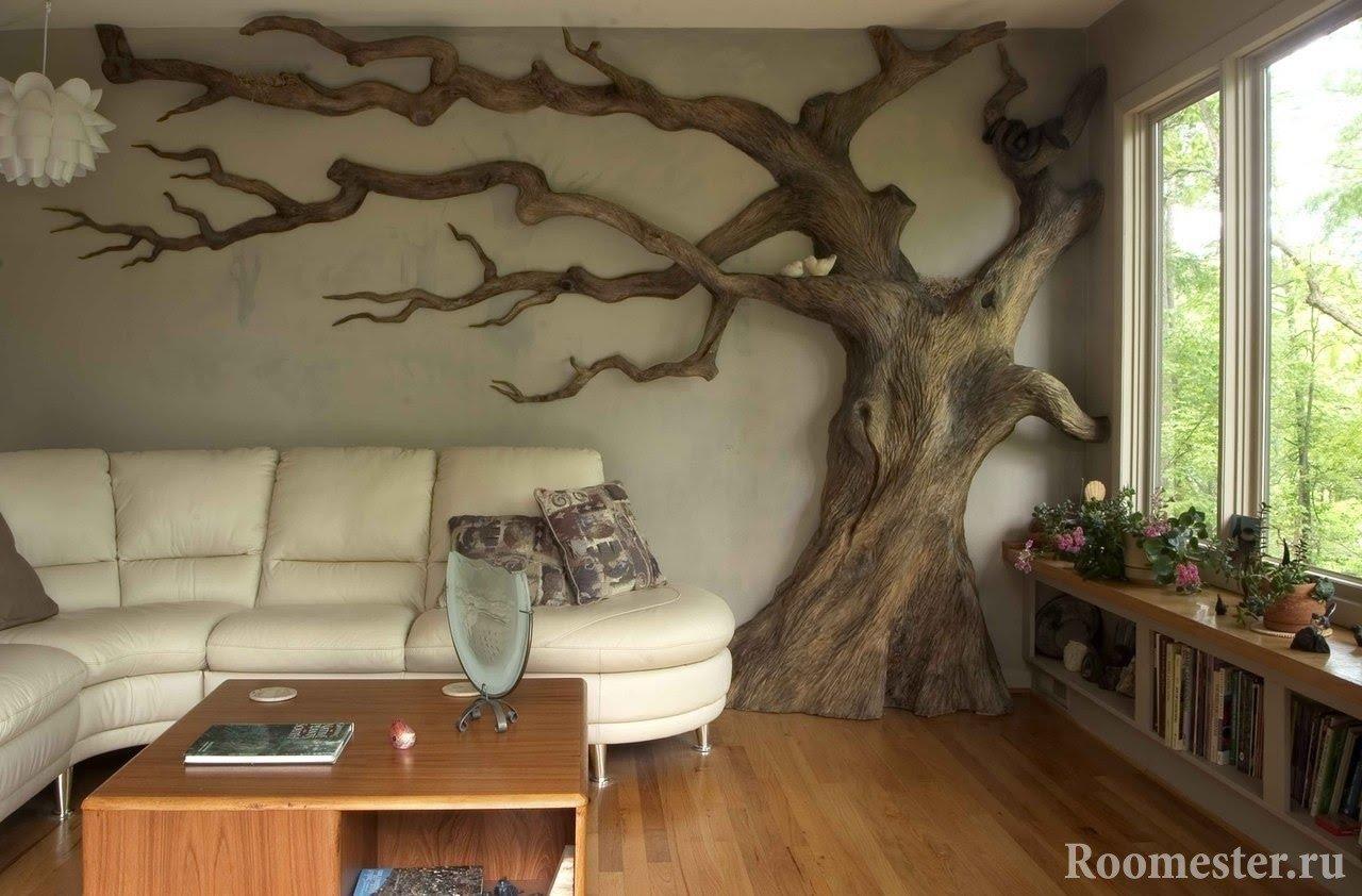 Дерево ствол в интерьере своими руками