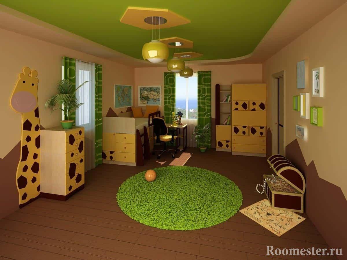 Дизайн детской комнаты для мальчика - идеи интерьера 50 фото