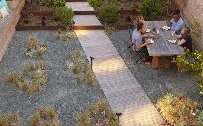Идеи ландшафтного дизайна двора частного дома на фото