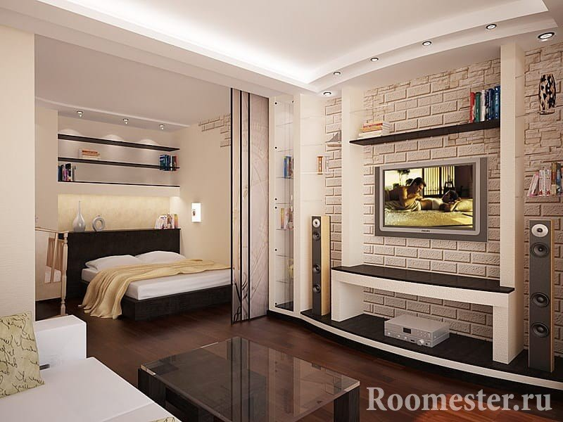 Идея дизайна квартиры полуторки