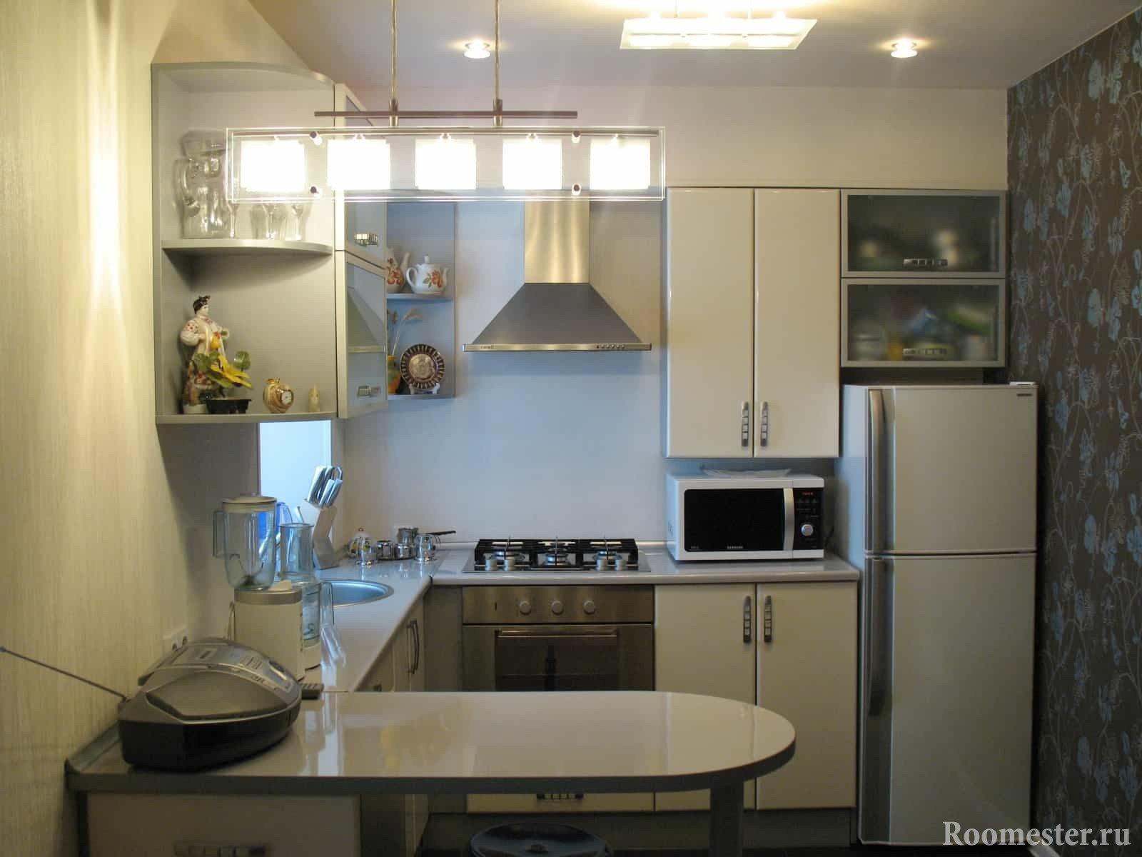 Дизайн кухни с барной стойкой вместо стола