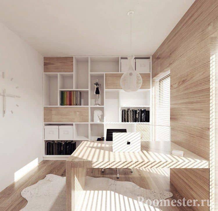 Небольшой кабинет в скандинавском стиле