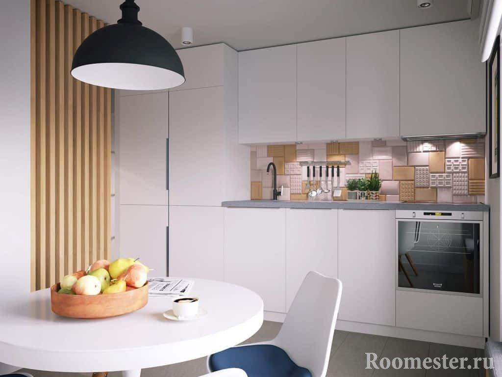 Кухня в белом цвете 10 кв м