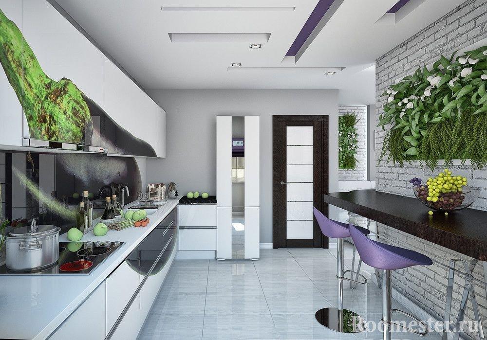 interior de la cocina 12 metros cuadrados foto