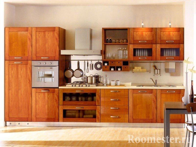 Кухня с рейлингом