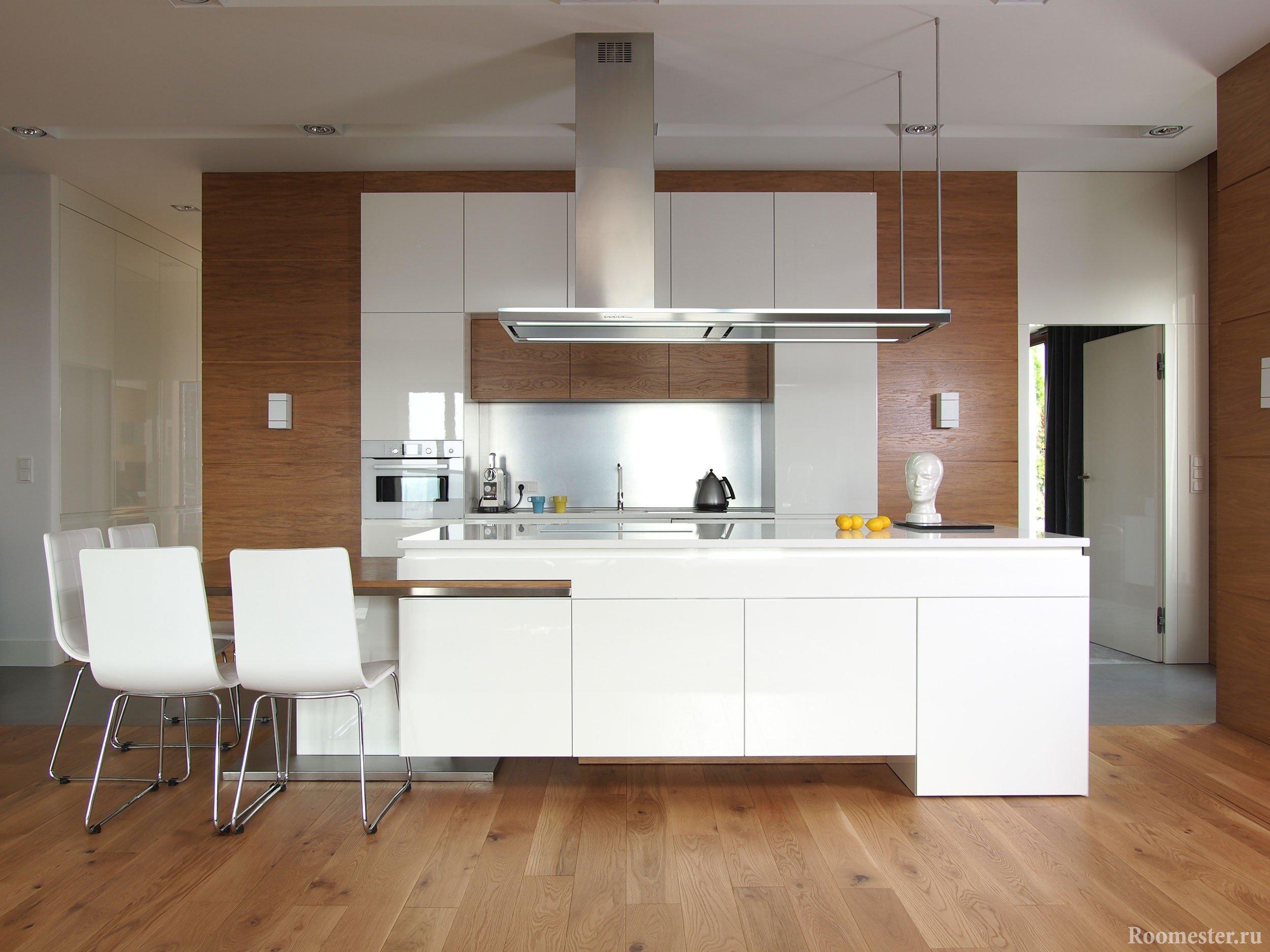 Кухня на отдельной стене