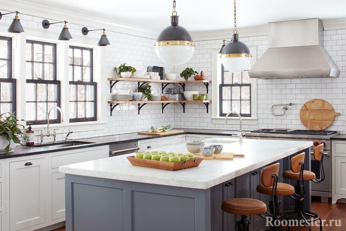 Подбор светильников для дизайна кухни