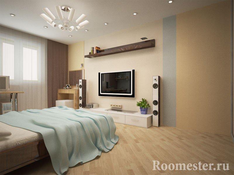 Спальня с телевизором
