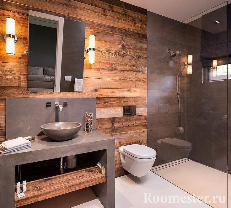 Ванная с туалетом в стиле лофт