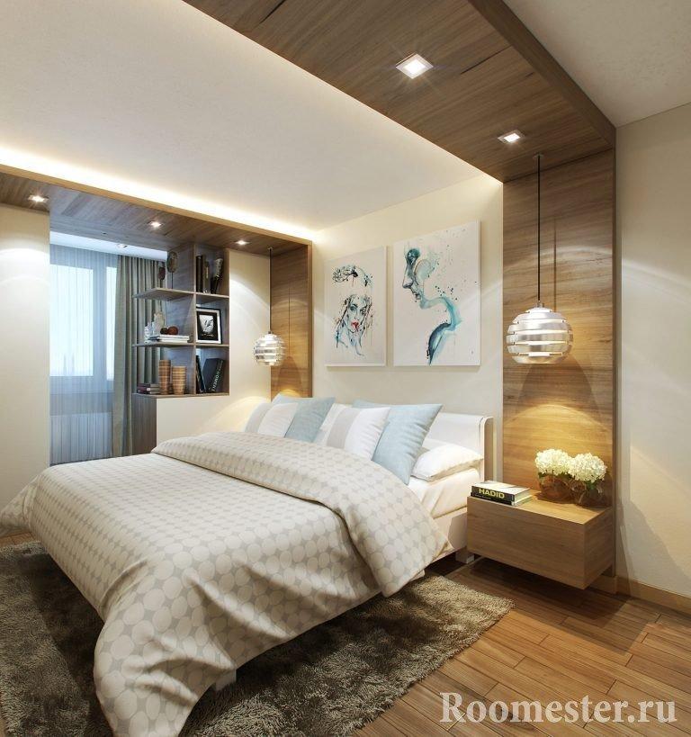 Дизайн спальни 12 кв. м. - 50 фото идей интерьера в современ.