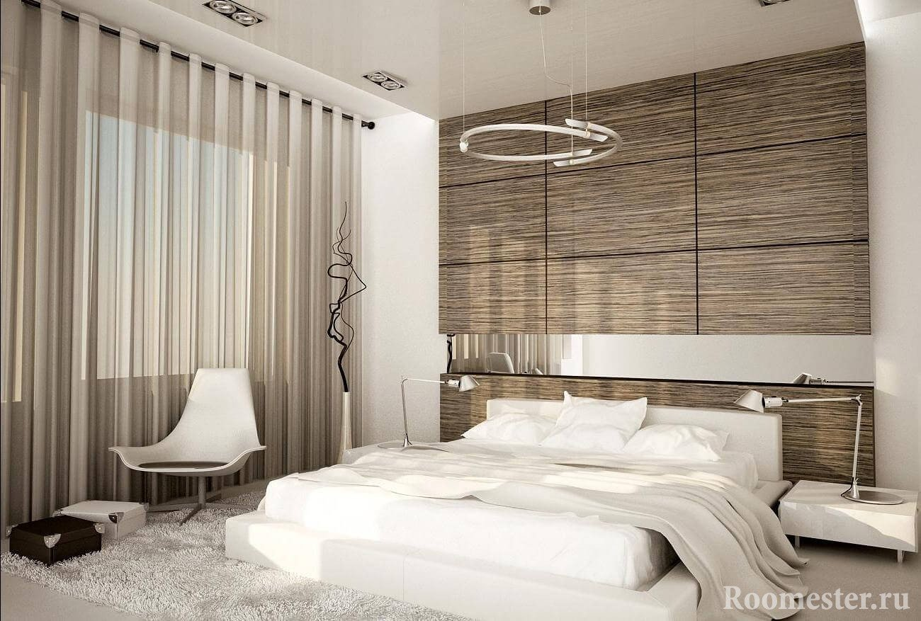Оригинальная отделка спальни