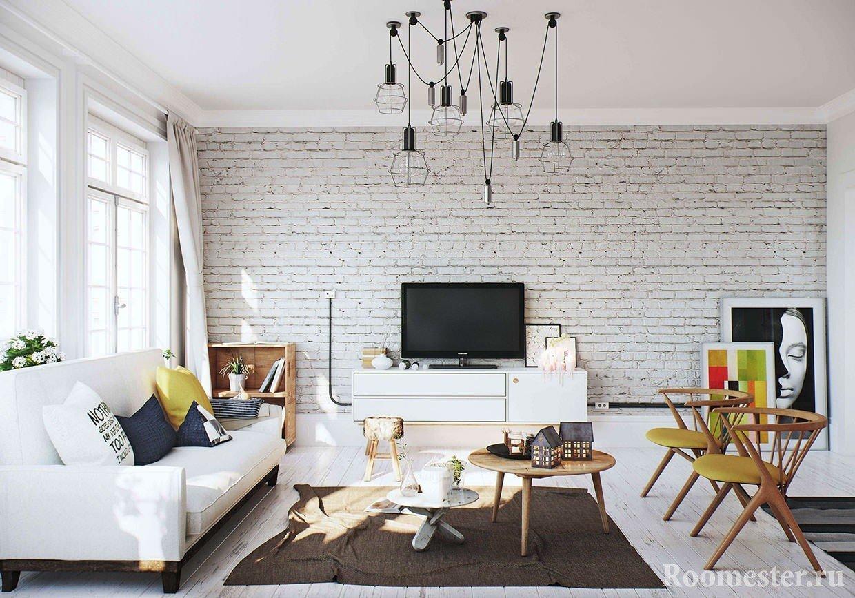Скандинавский стиль для гостиной