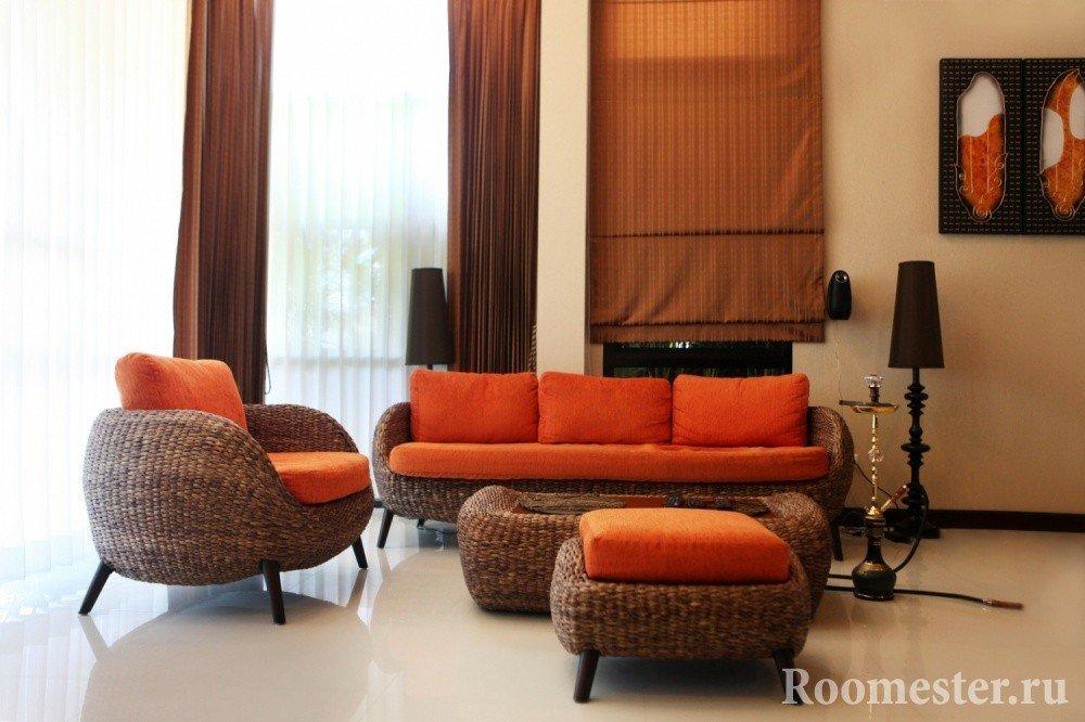Сочетание оранжевого и коричневого