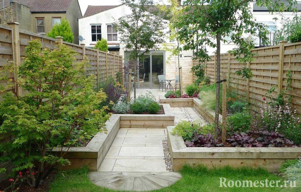Ландшафт двора частного дома 2 сотки
