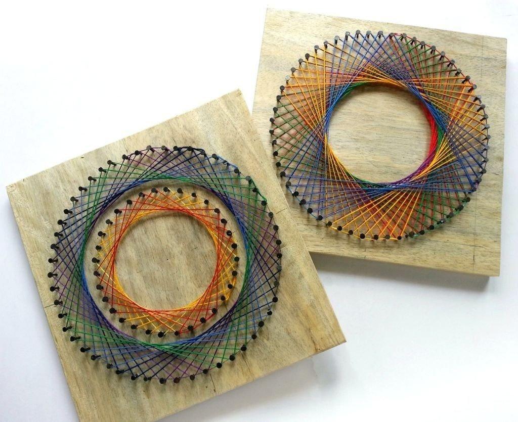 Панно из цветных ниток