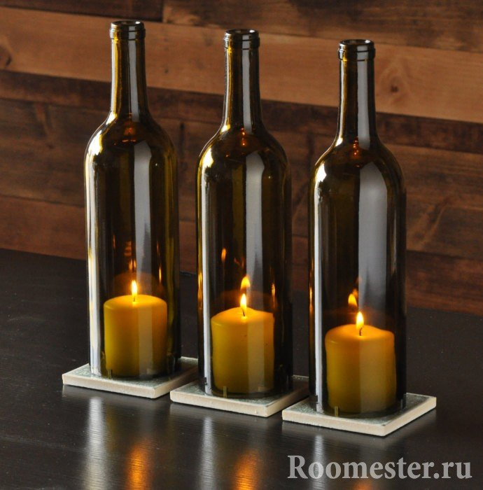 Бутылки без дна для свечей
