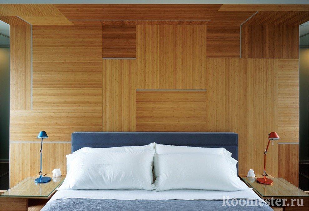 МДФ панели на стене и потолке