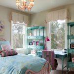 Комната в бирюзовом цвете