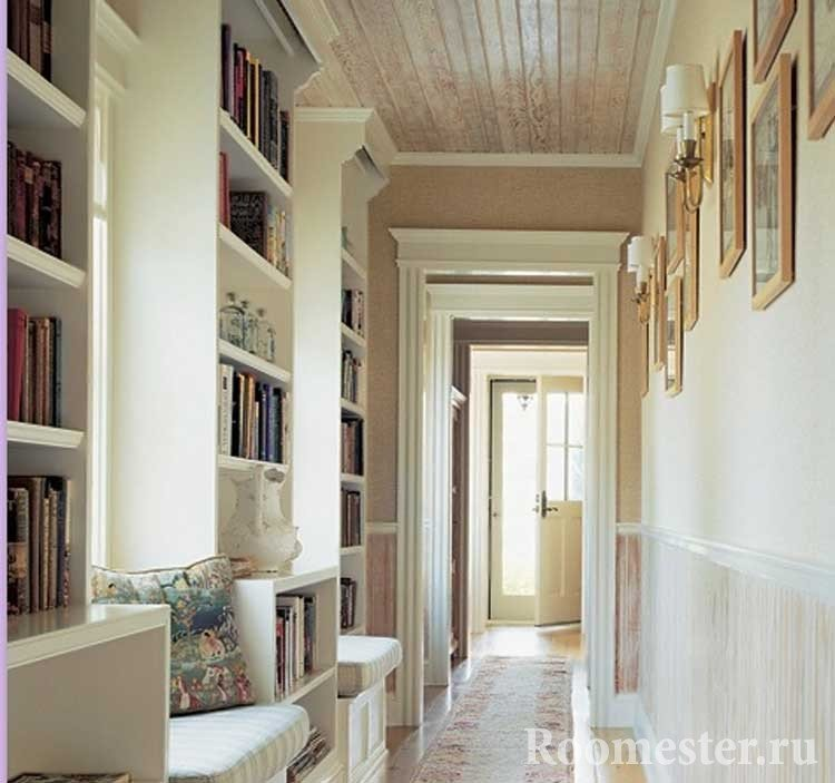 Дизайн длинного коридора в трехкомнатной квартире