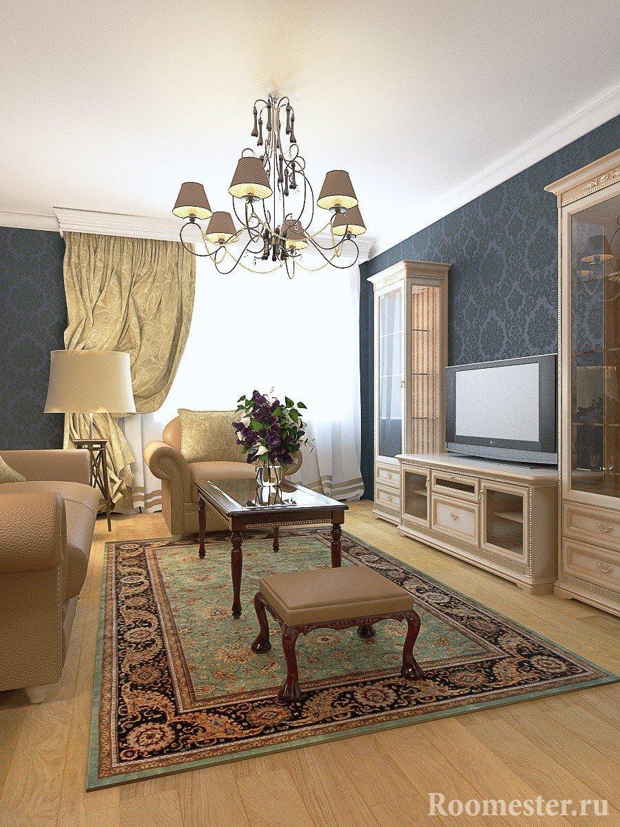 Дизайн-проект гостиной комнаты