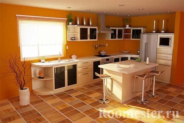 Яркая кухня
