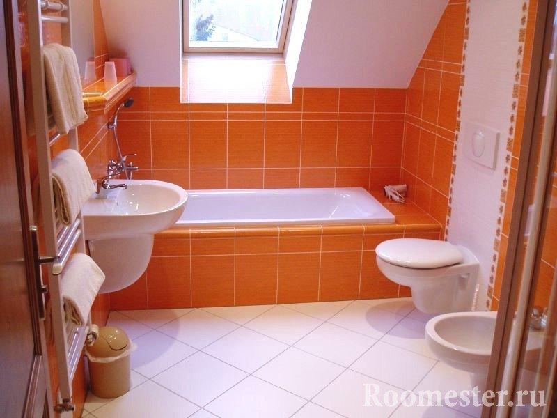 Оранжевая керамическая плитка