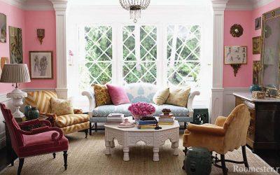 Розовый цвет в интерьере — 25 идей