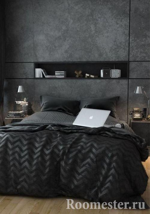 Шелковый текстиль в черном исполнении