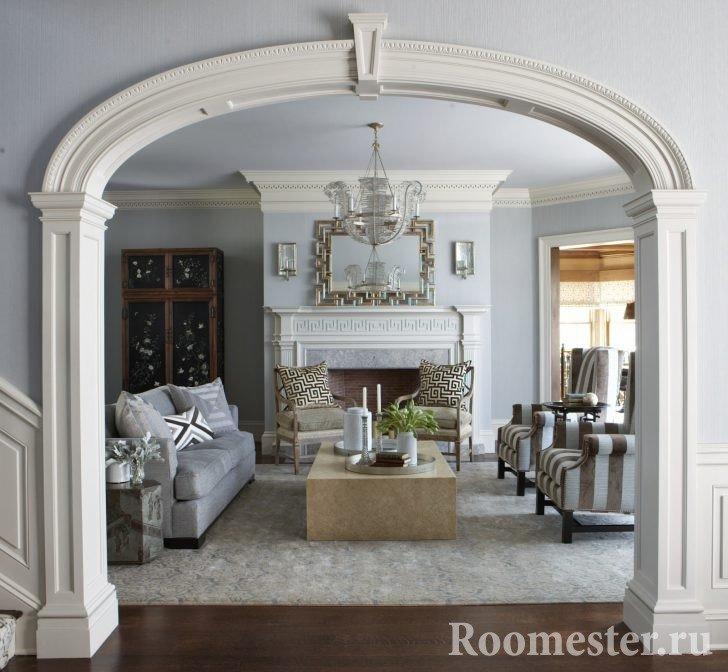 Эллипсоидная арка в гостиную