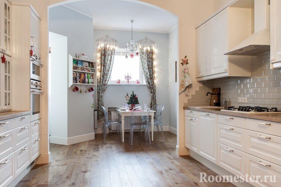Классическая арка в кухне