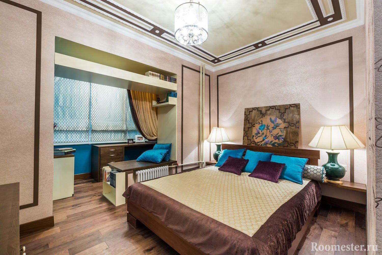 Дизайн спальни 9 кв. м - 35 фото интерьера.
