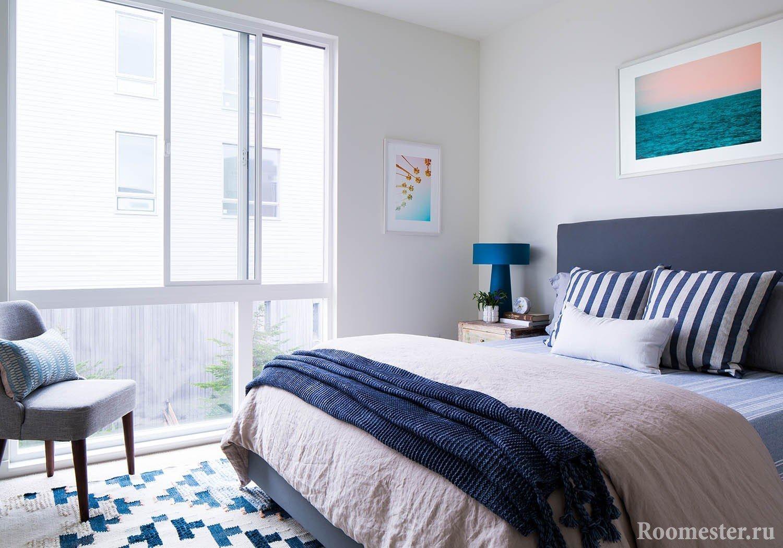 Огромное окно в спальне