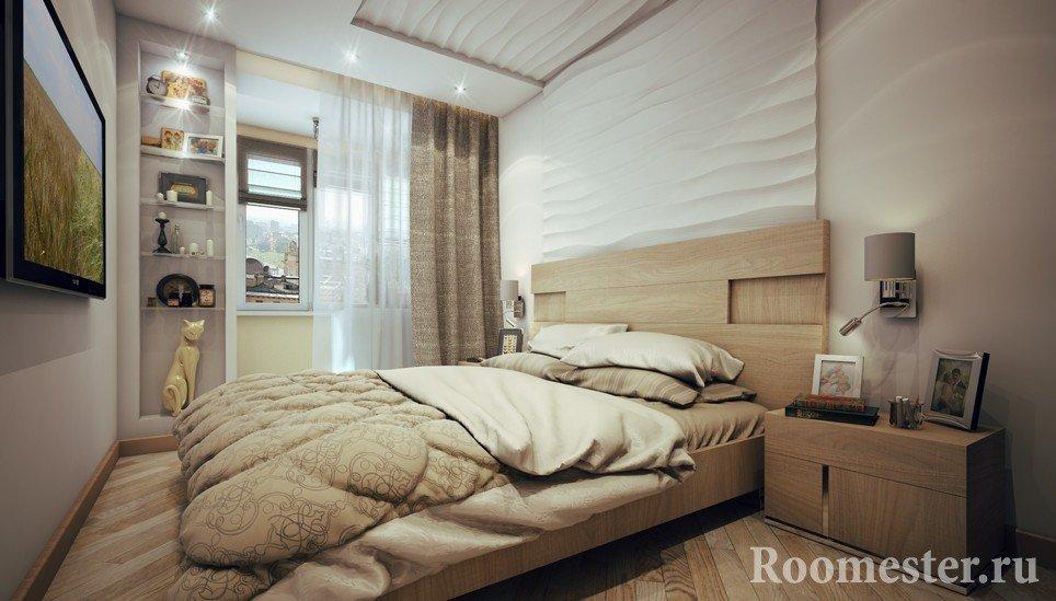 Smalle slaapkamer ontwerpfoto