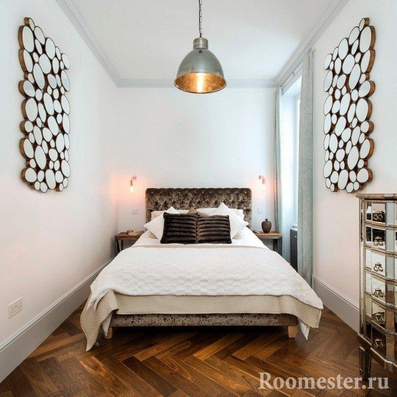 Дизайн спальни в узкой комнате