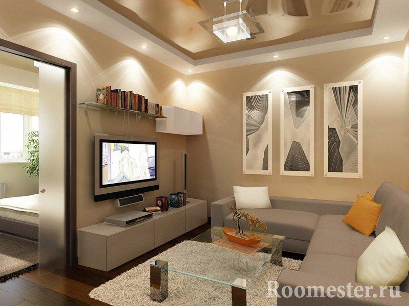 Дизайн маленького зала в квартире