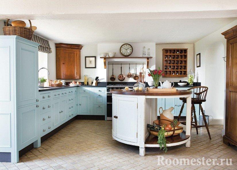Деревенский стиль в кухне