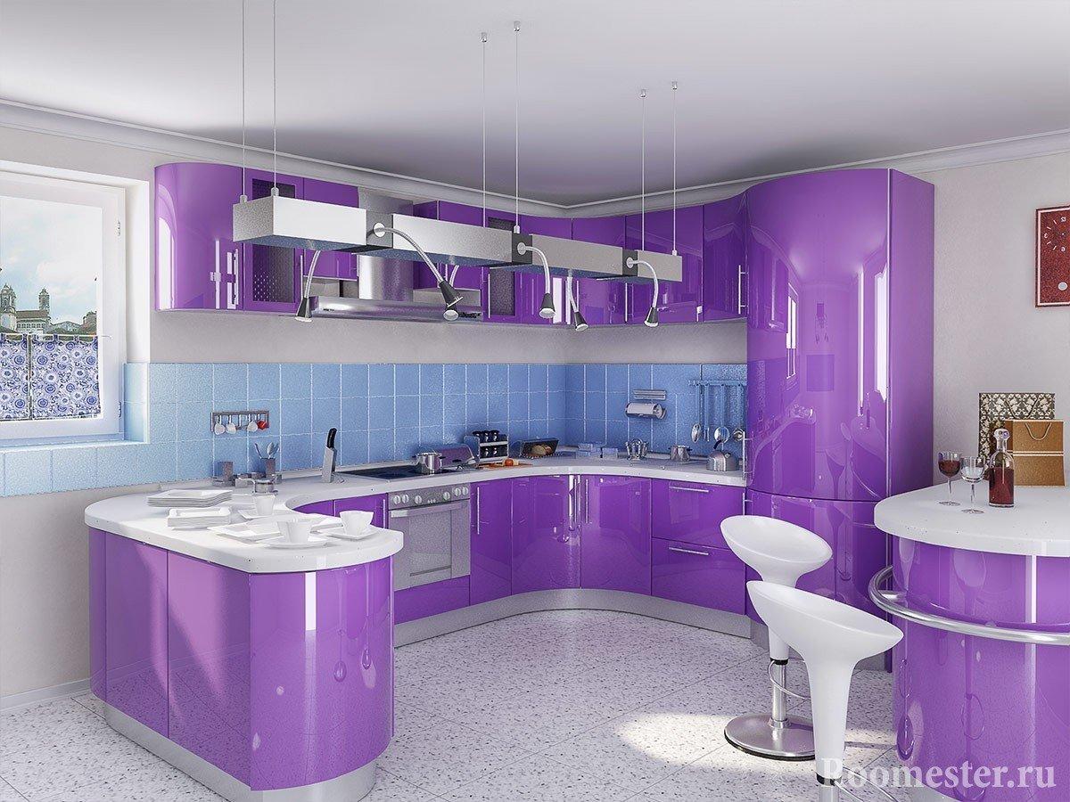 Фиолетовый с голубым