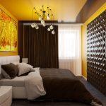Стильная спальня с 3д панелями