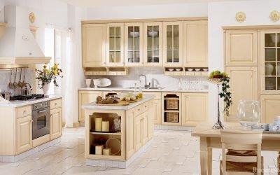 Дизайн кухни в бежевых тонах — примеры на фото