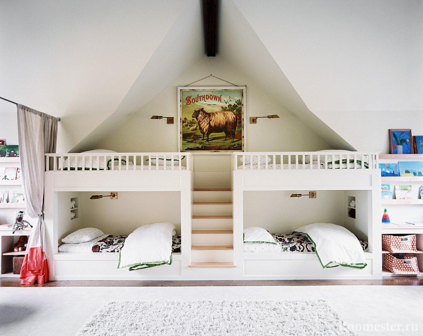 Спальня для 4 детей