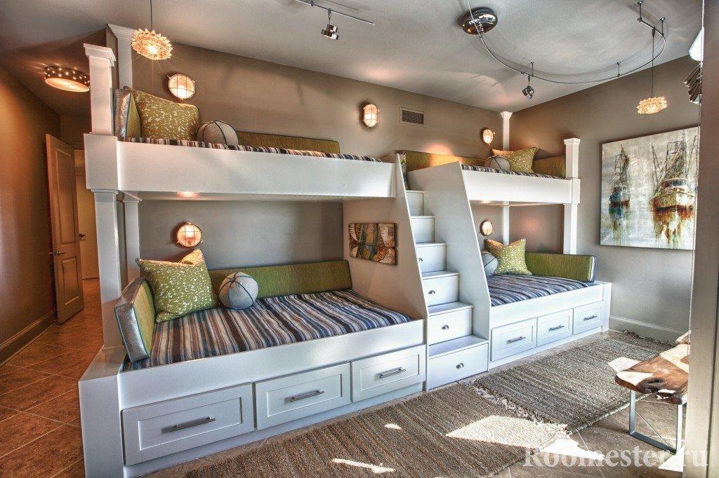 Размещение кроватей для многодетных семей