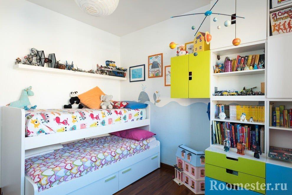 Выдвижная кровать для второго ребенка