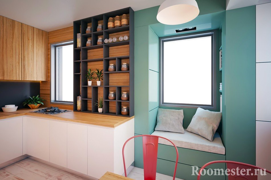 Дизайн однокомнатной квартиры с нишей 33 фото интерьера