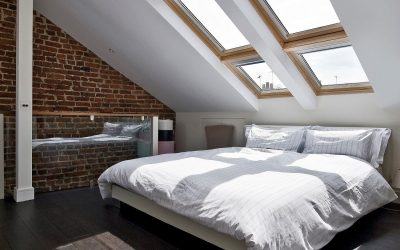 Дизайн современной спальни на мансарде: 35 фото примеров
