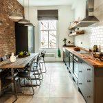 Сочетание современной мебели со стилем лофт