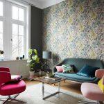Обои под разноцветную мебель