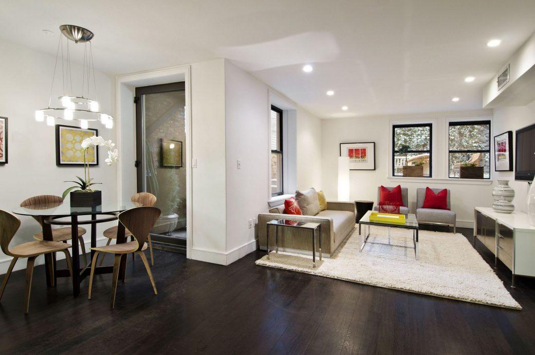 Дизайн квартиры темный пол светлые стены