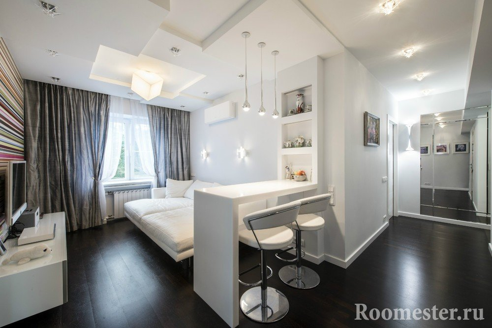 Черный пол в квартире