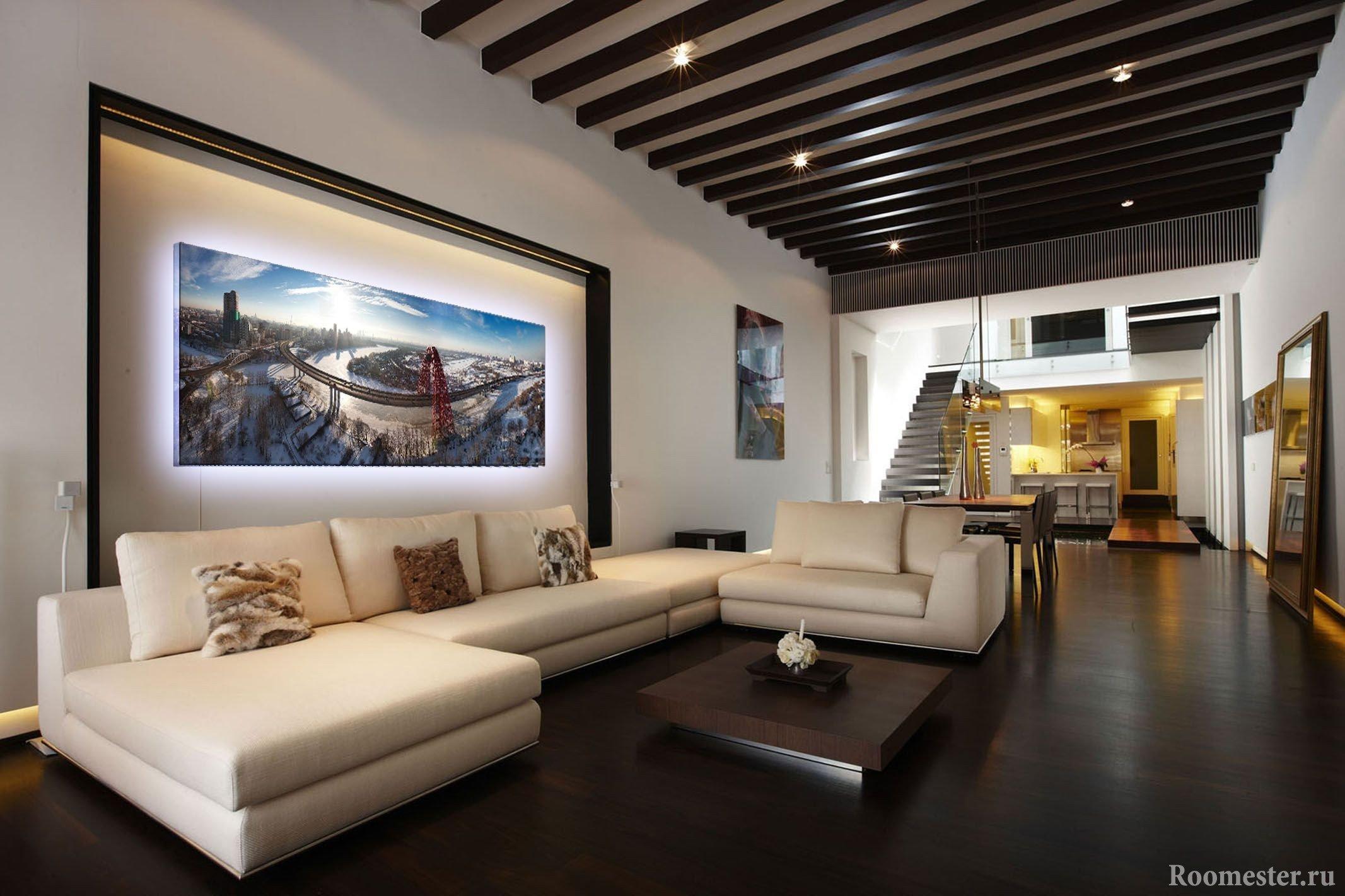 Темный потолок в интерьере квартиры фото дизайна